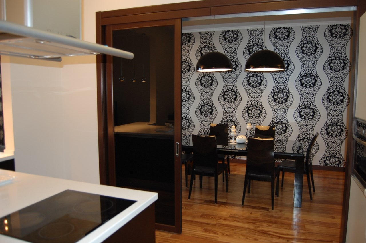 Квартира с большой кухней гостинной