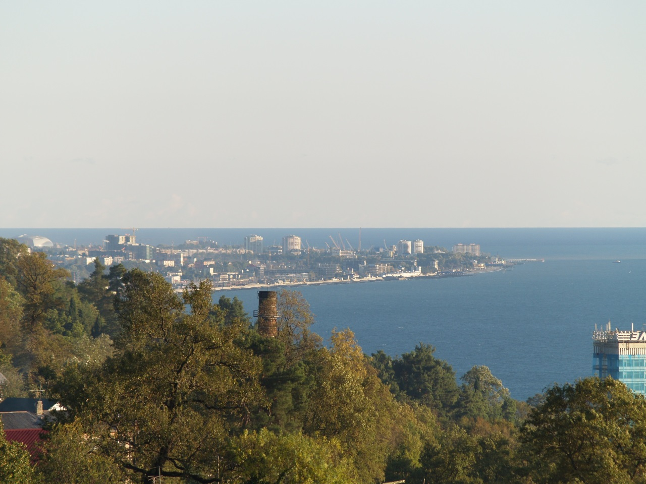 Панорамный вид на море адлер