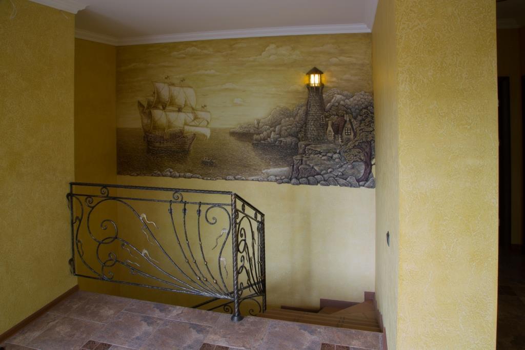 В доме художественная роспись