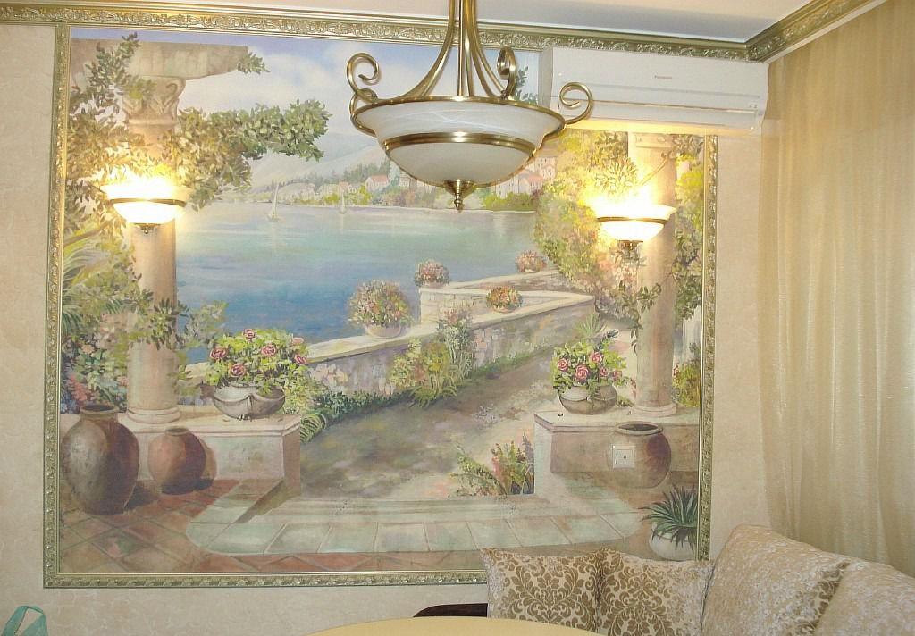 Эксклюзивная роспись на стене
