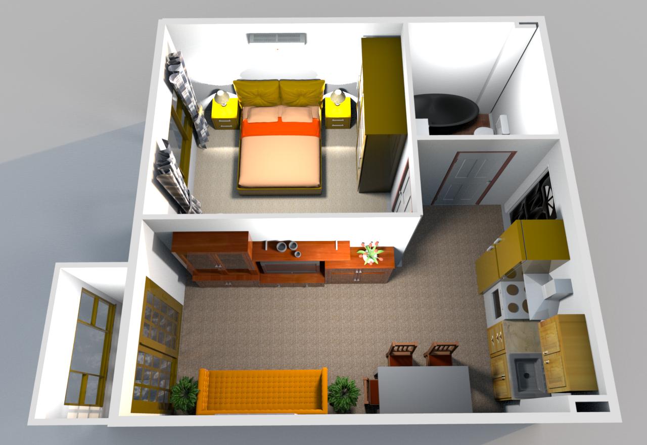 Кухня гостиная с выходом на балкон