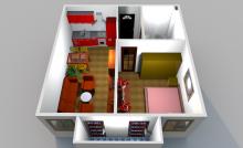 Недорогая квартира с балконом