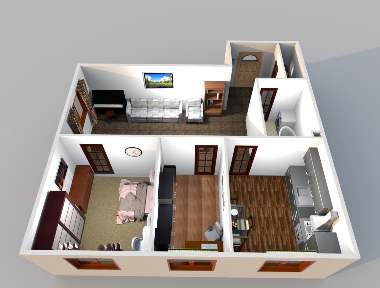 Трехкомнатная квартира в Сочи