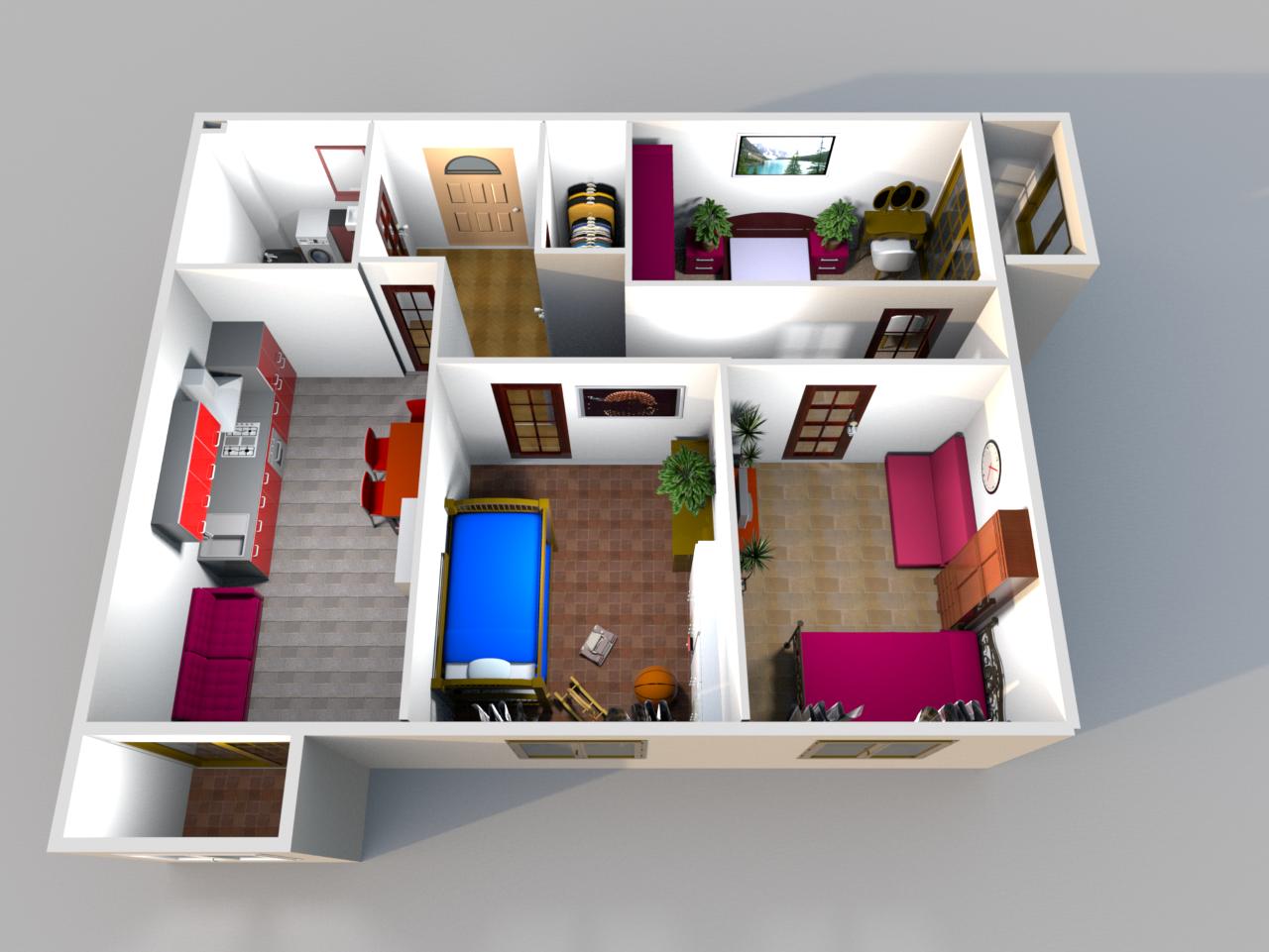 В квартире две спальные