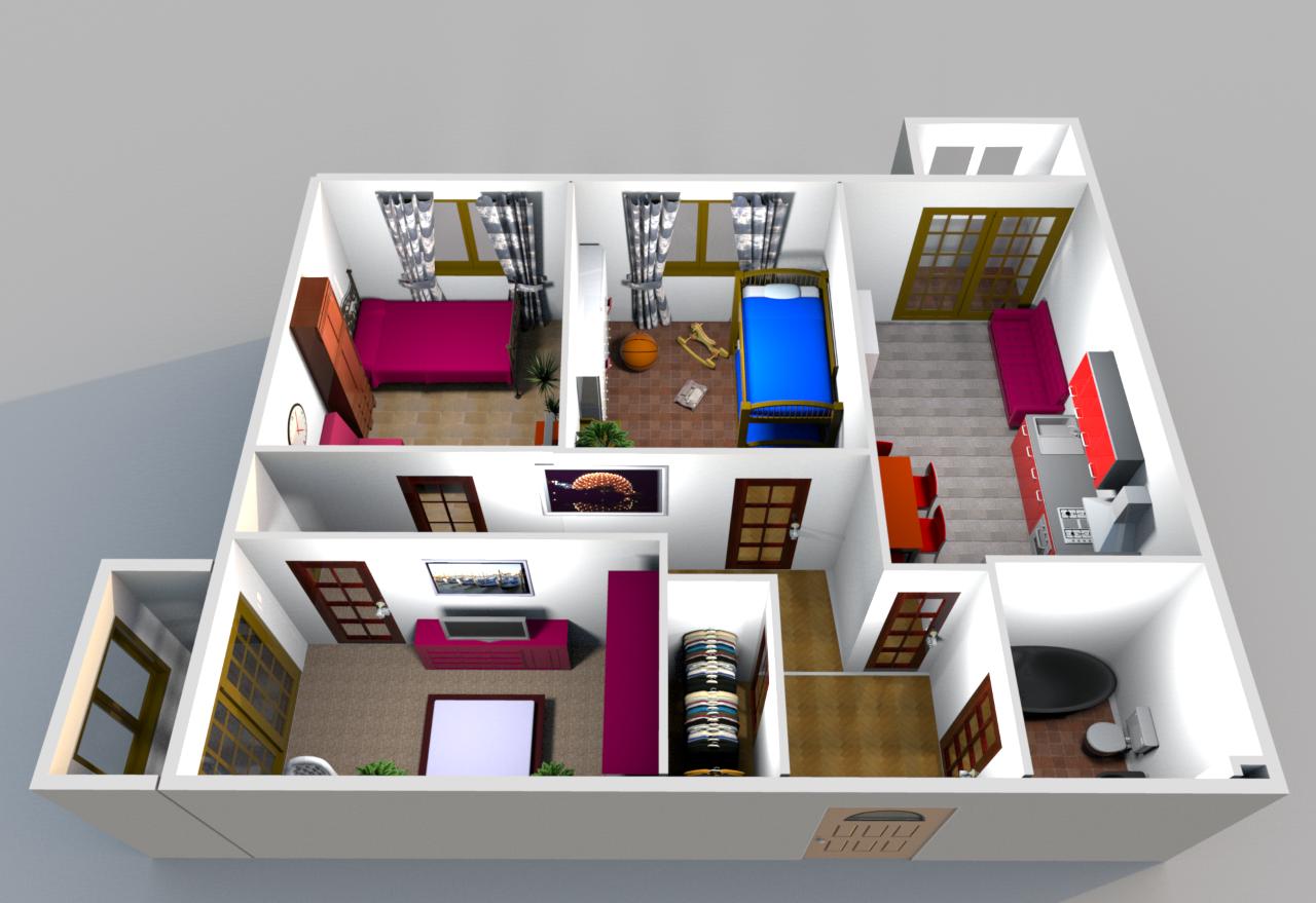 Трехкомнатная квартира планировка
