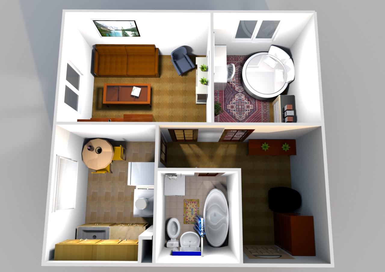 В квартире три окна