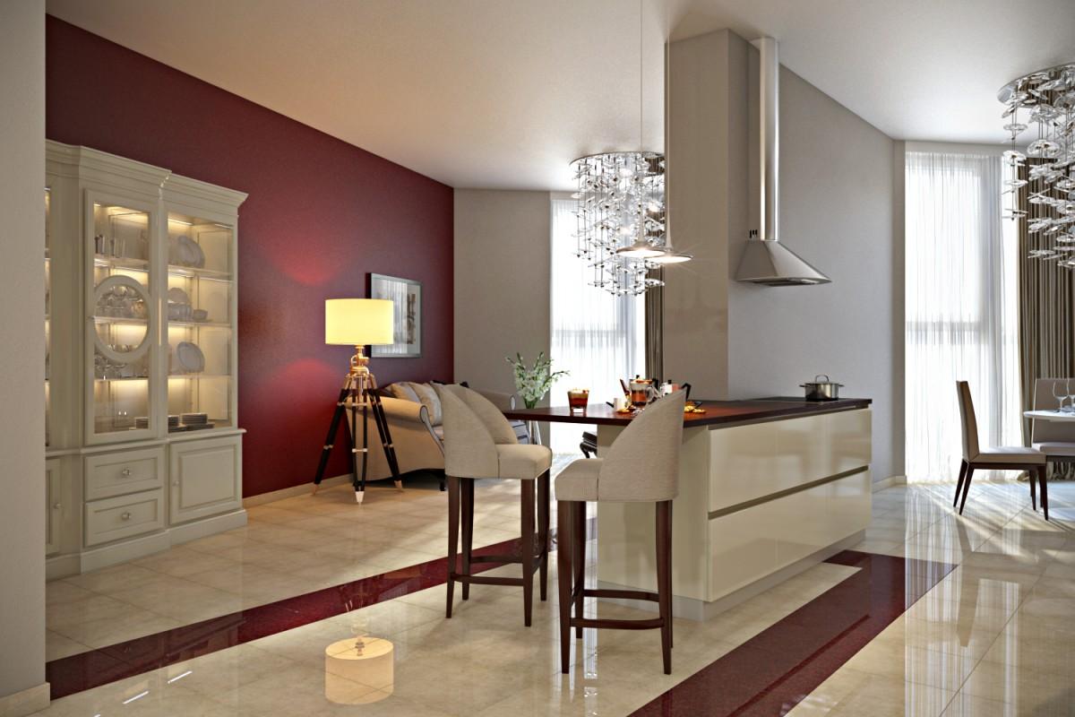 Дизайн проект кухонной зоны
