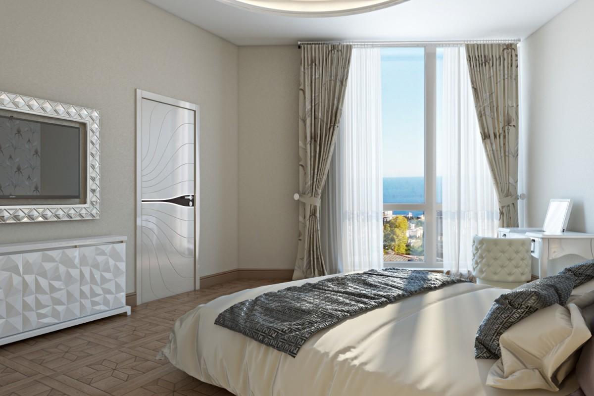 Спальная с видом на море