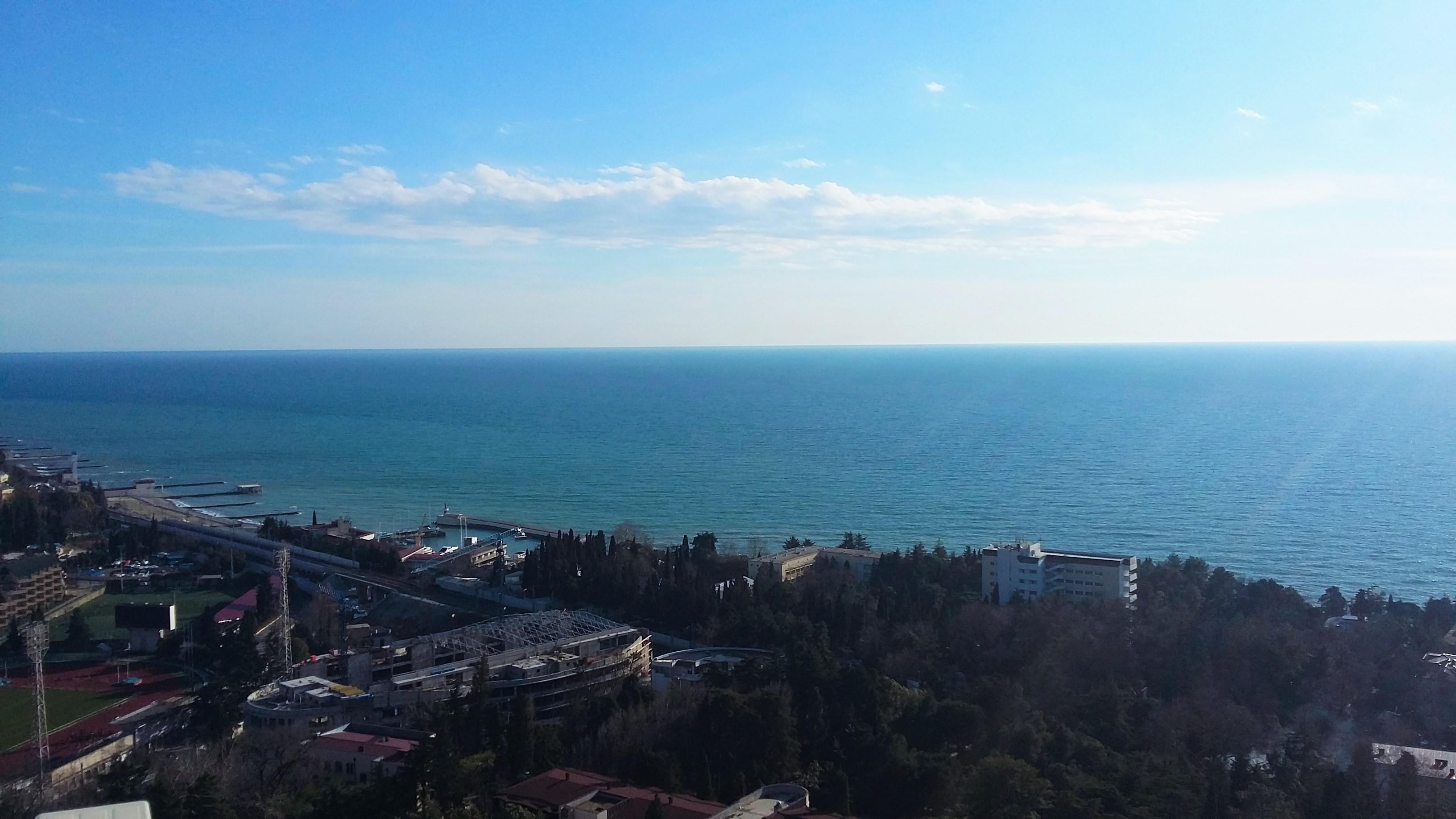 Видна черное море
