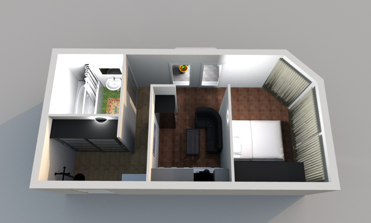 Квартира с большими окнами