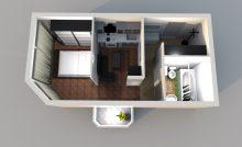 Квартира с маленьким балконом