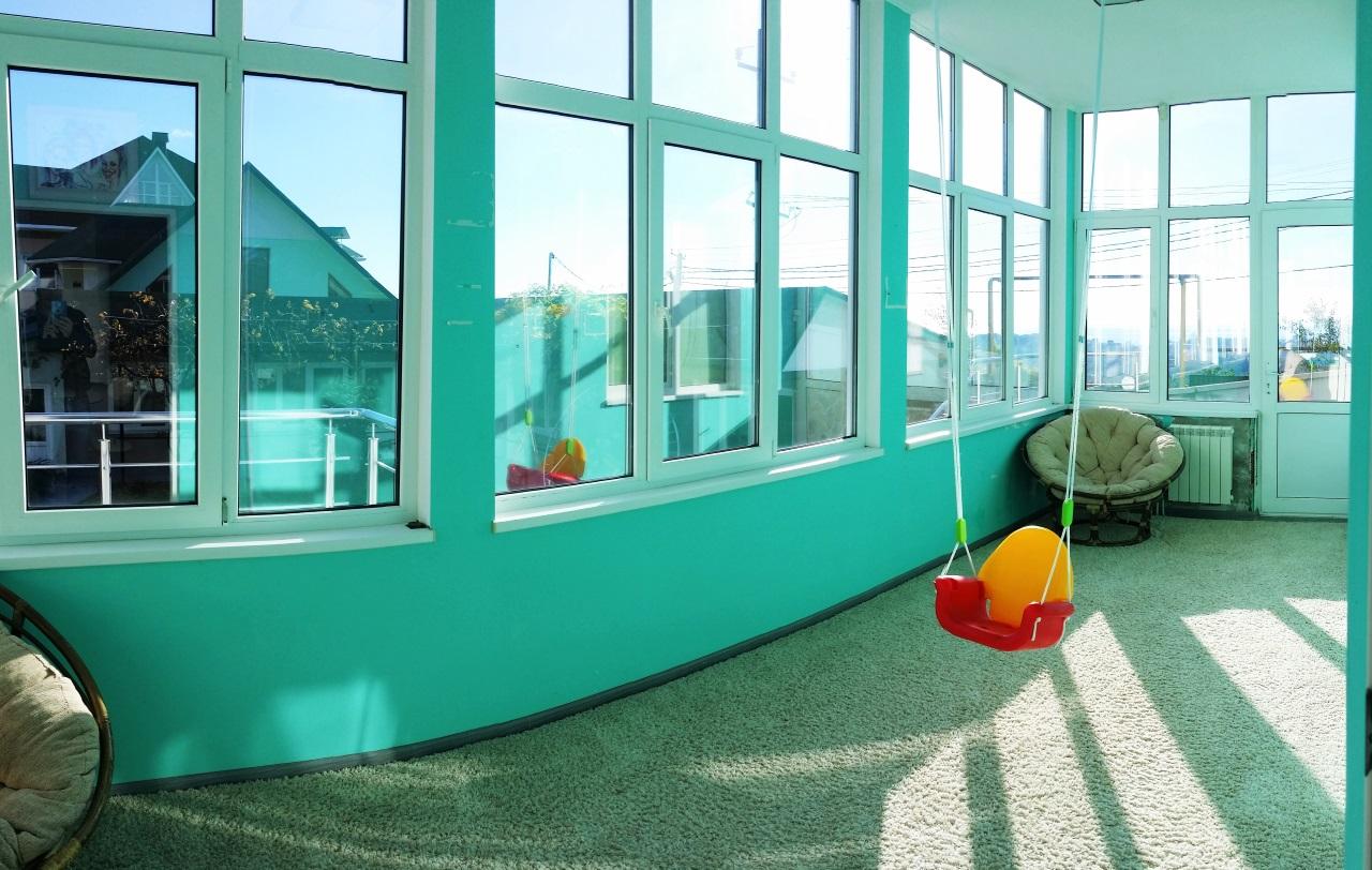 Детская с панорамным остеклением
