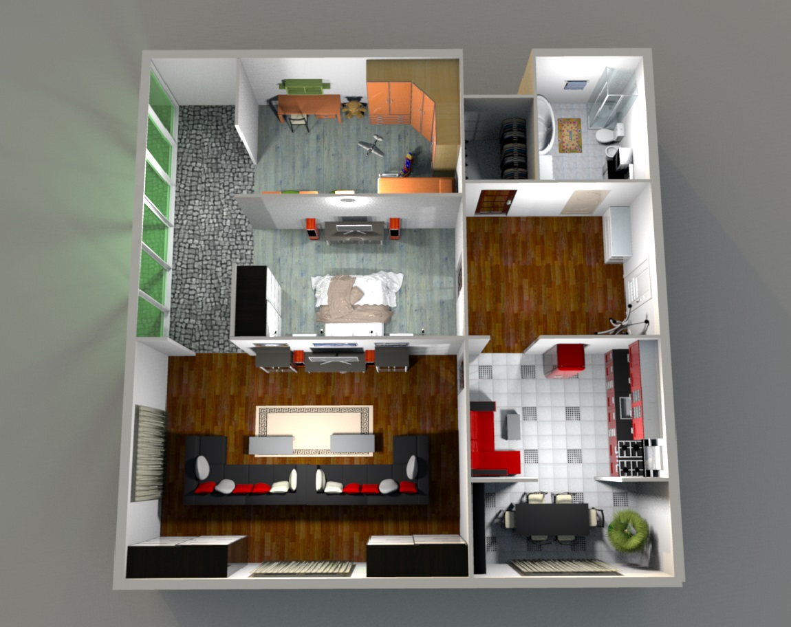 Три комнаты