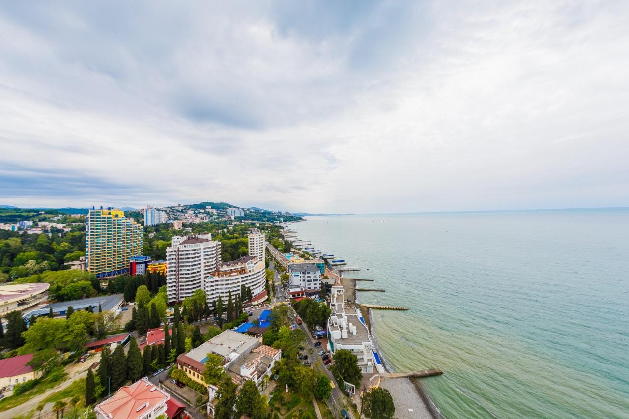 Панорама моря и Сочи