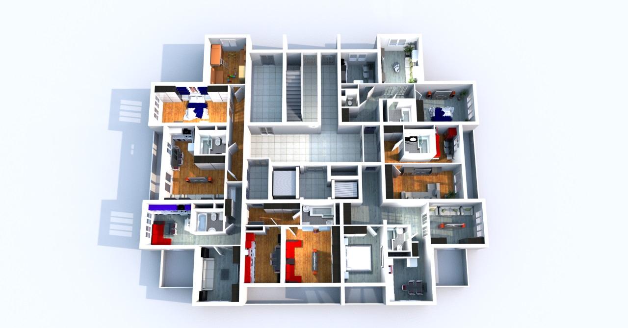 План этажа ЖК Три Капитана