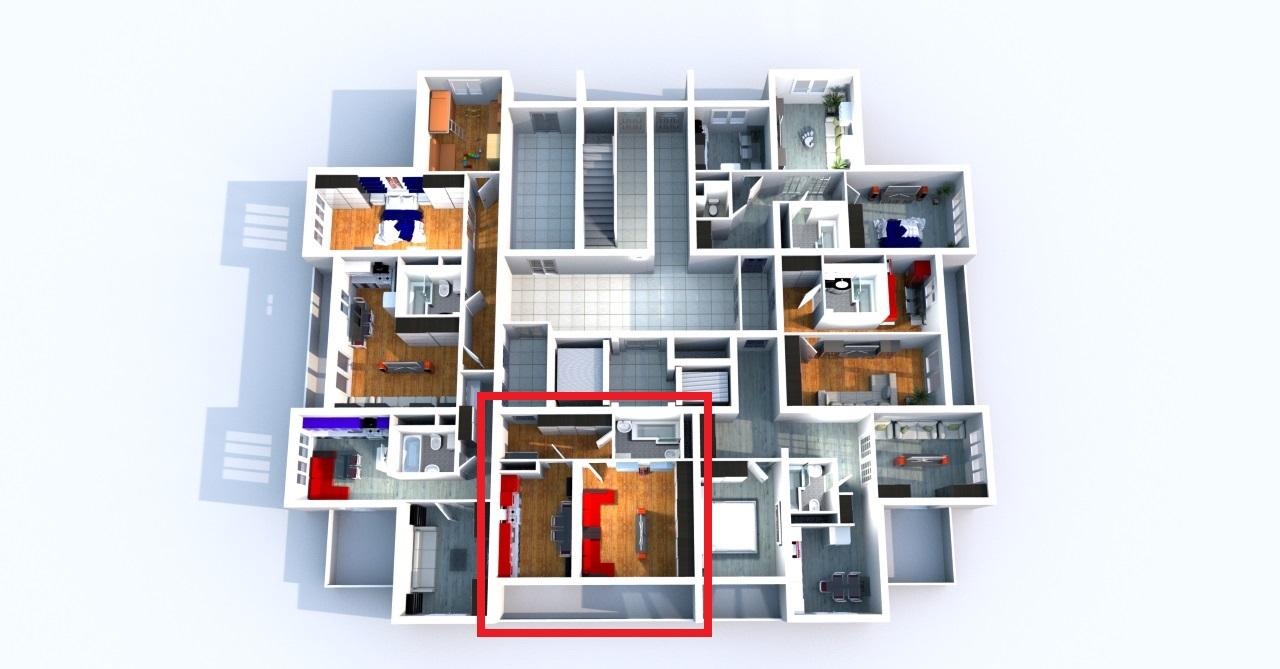 Планировка квартир на этаже в ЖК Три Капитана