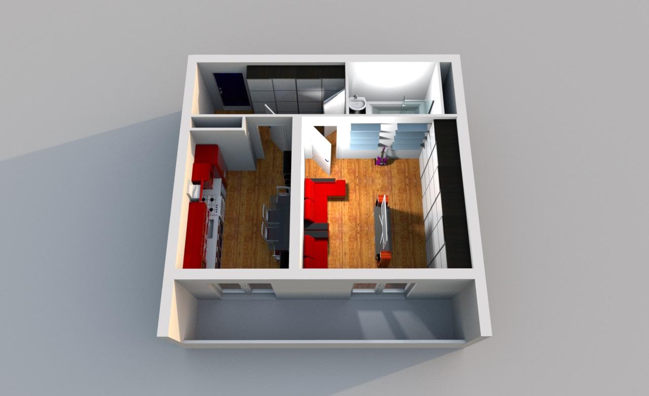 Квартира с большим балконом в ЖК Три Капитана