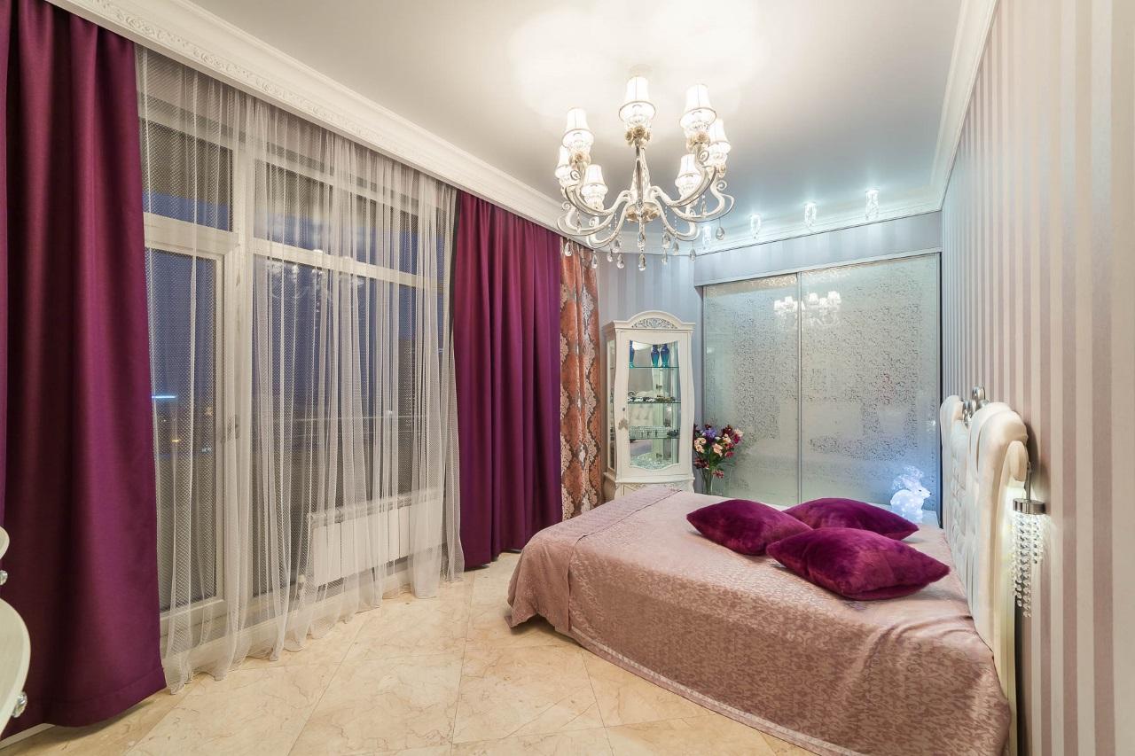 Спальная с видом на море и Сочи