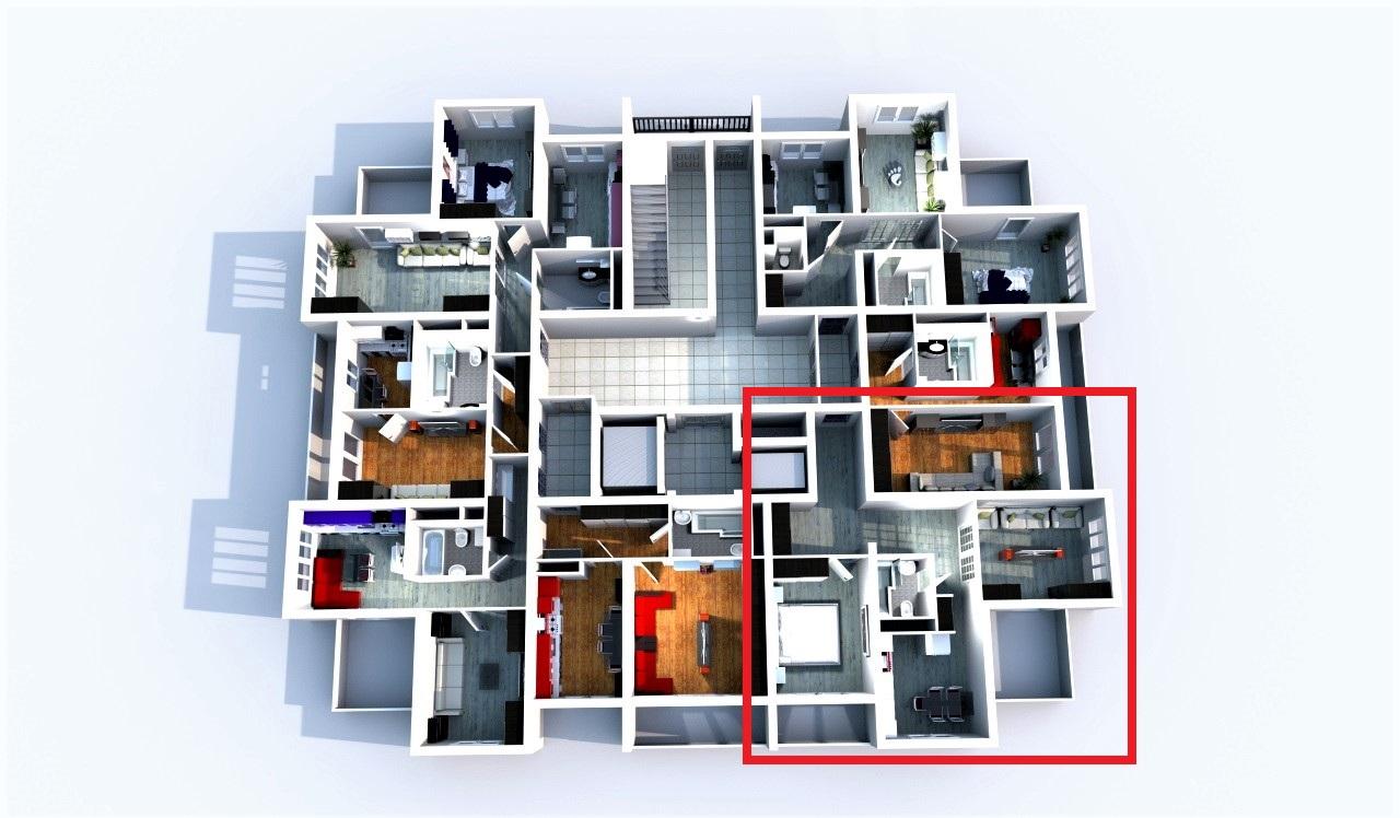 Планировка квартир на 2-ом этаже