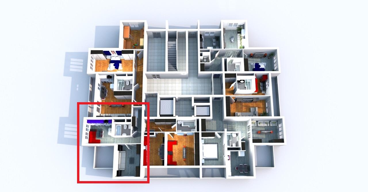 Схема этажа ЖК «Три капитана»
