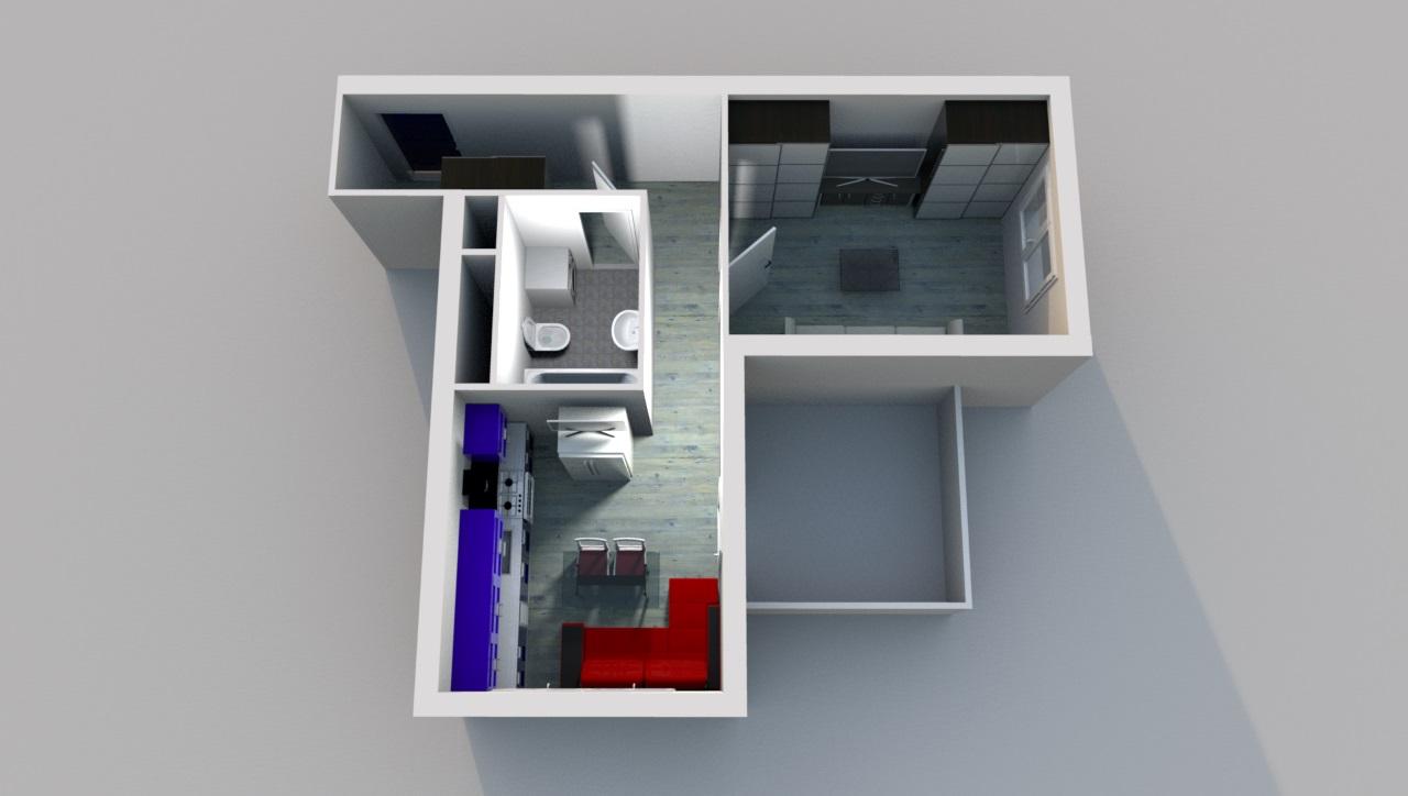 Квартира свободной планировки