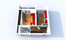Небольшая квартира с балконом