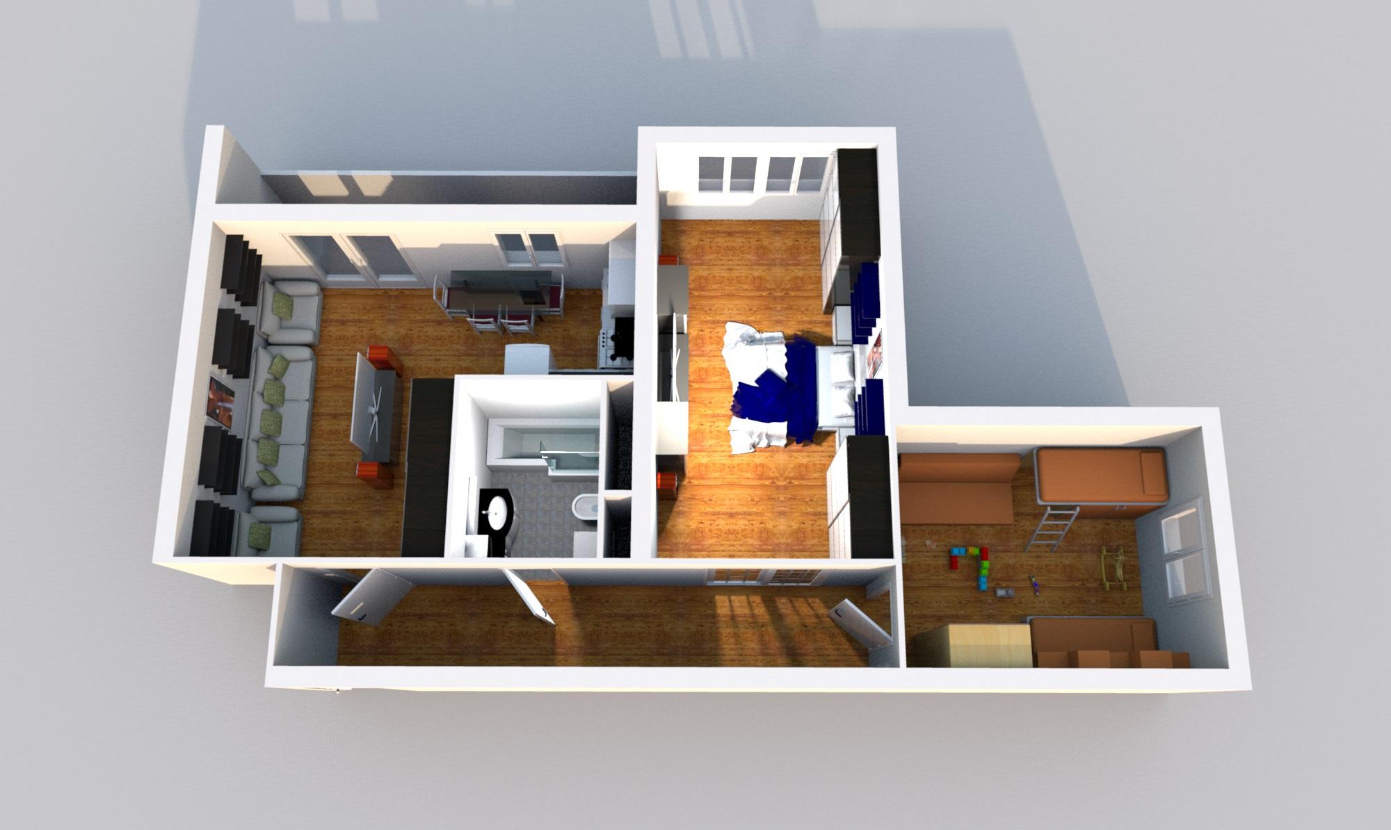 Угловая квартира с балконом