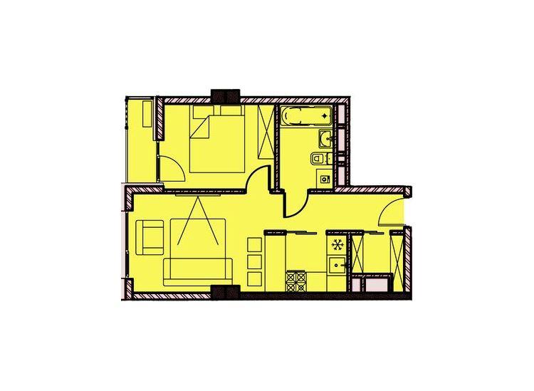 Квартира с балконом и видом на Сочи
