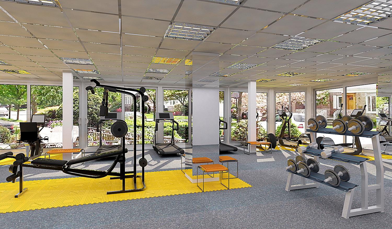 На территории ЖК «Меркато» расположится фитнес-центр, оборудованный новыми современными снарядами и тренажерами известных мировых брендов.